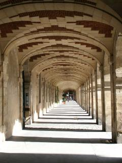 The arcades around Place des Vosges