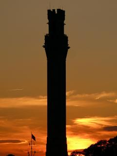 sunset at the monument