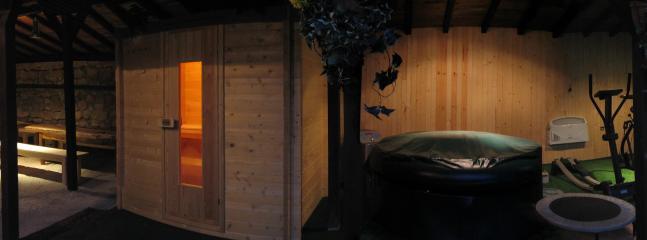 sauna, jacuzzi, gym, BBQ area