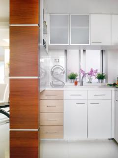 The lovely fully equipped kitchen  where you can cook your favorite dishes any time you wanted.
