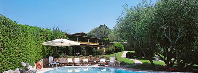 swimming pool and the Sardinian  villa