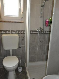 Bathroom with a shower and bidet