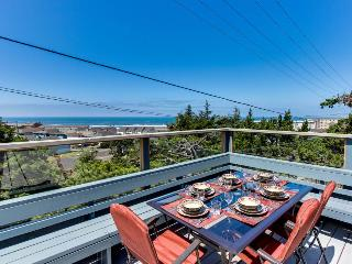 Oceanview home w/ a beautiful deck & private playground, blocks from the beach!
