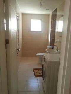 Laundry and guest bathroom