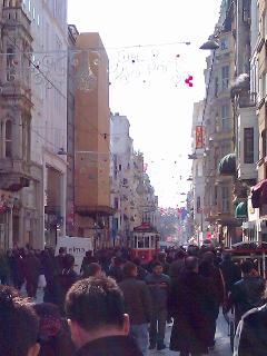 Nearby Istiklal Street and the vintage tram
