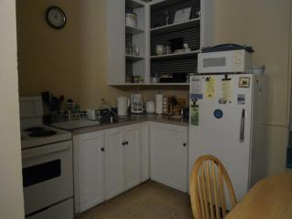 Fridge and stove. Fully equipped kitchen/dining area. Private entrance.