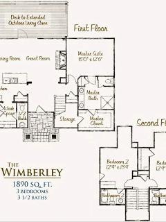 Floor plan of 1900 sq. ft. Cottage.