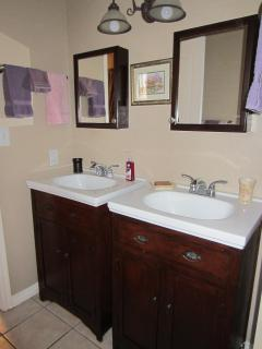 Double vanity sinks in Master bath.