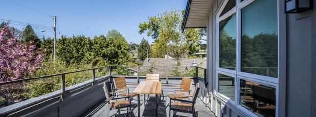 Your protected private back deck for sunny afternoons