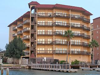 Our condo building and pier on the bay