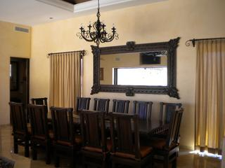 Large Dining Room Table, accommodating for up to 12 people.