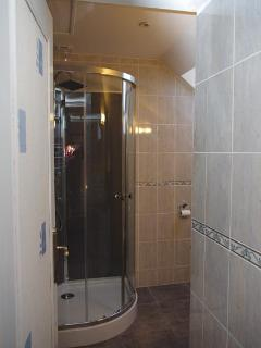 The shower room entrance.