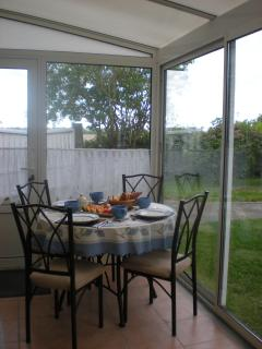 New completed conservatory for breakfast.