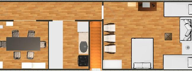 2nd floor 13' x 40' (not to scale)