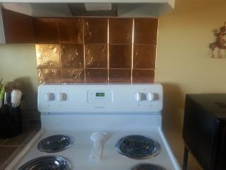 Electric Stove with Copper Tin Wall Tiles