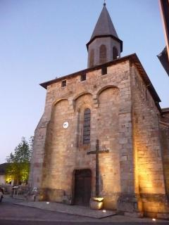 The church, directly opposite