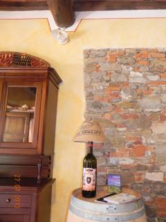 Living room details - bottle