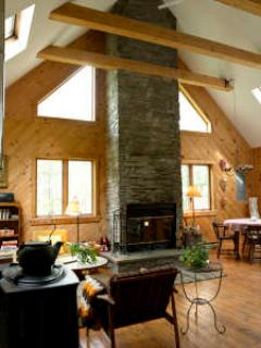 Vaulted Ceilings & Bluestone Fireplace