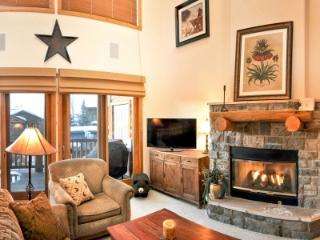 Living room, fire place, panel TV