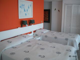 Bed area, double and single beds best suits two adults or a family of five.