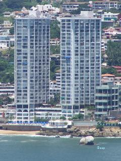Our Twin condo towers - a landmark in Acapulco