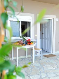 Luxury and stylish stone build veranda