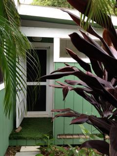 Cottage back door-outside shower