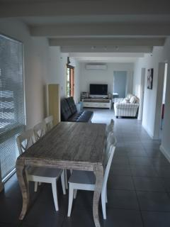 Combined lounge and dining area