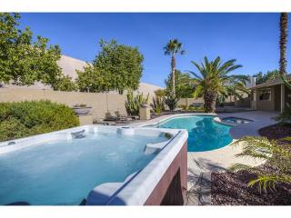 Completely private yard with new jetted spa and large diving pool with attached 3' deep kids pool