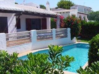 Binibeca. Mediterrean villa with private with sea views