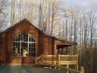 Banjo Ridge Cabin is private and secluded with Wifi, Hot tub and fire pit, Butler