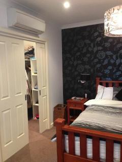 Master bedroom, walk in wardrobe