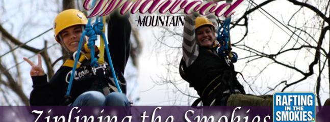 Ziplining in the Smokies nearby