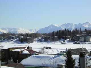 Campbell Lake & Chugach Mountains wintertime