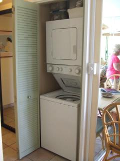 Your washer and dryer in the hallway, no need to visit the laundry mat.