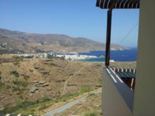 Ideally located, with a gorgeous view of Chora -Andros and sea.