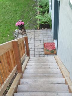 Stairs to B&B entrance