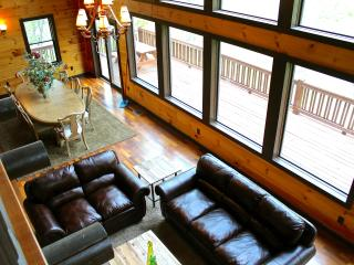 Elk River cabin sits on 40 acres and big river to explore. Mtn Views. Gorgeous!