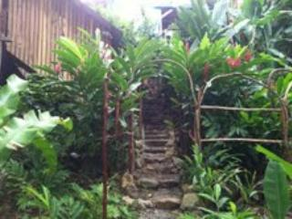 stone path to the casita