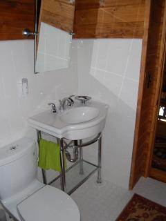 Full bath with shower upstairs