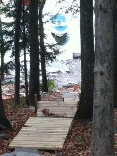 stairway to the lake