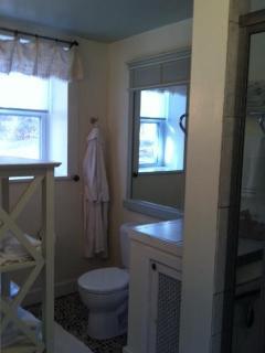 bathroom with Rain Shower and Radiant Floor Heat