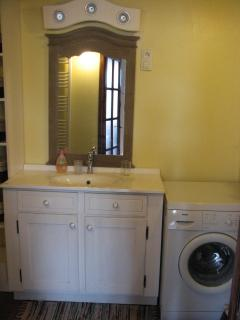 Bathroom Vanity and Washer