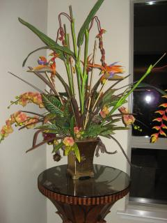 Beautiful flower arrangements...Yes, it will be there for your visit!