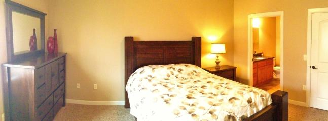 Master bedroom has a queen bed w/ high-end furnishings and a new deluxe mattress