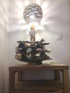 décoration lampe calebasse