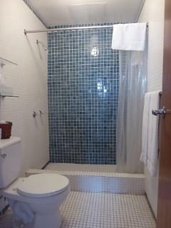 An en-suite private bathroom with hot shower. Daily maid service is included.