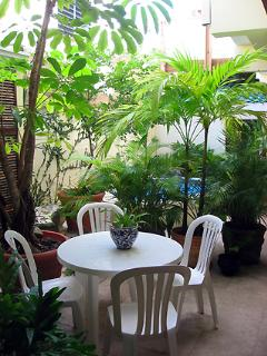 Feel free to enjoy your meals in our patio al fresco!