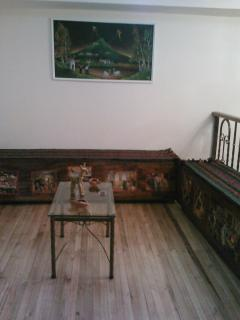 Hall with hand made chests and tables