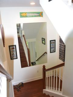 Staircase from entrance foyer to Great Room